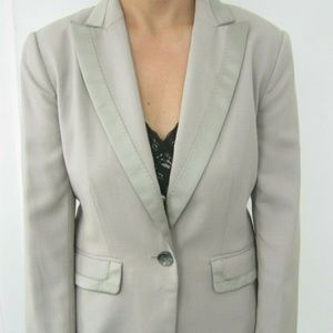 Banana Republic Womens Blazer Tuxedo style Gray